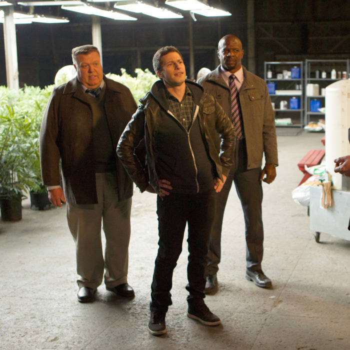 BROOKLYN NINE-NINE: L-R: Joel McKinnon Miller, Andy Samberg and Terry Crews in the
