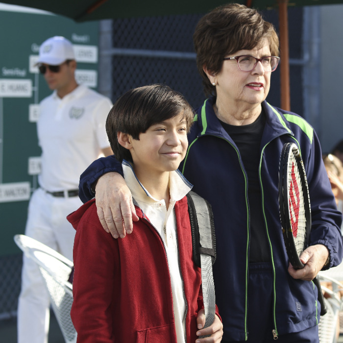 Forrest Wheeler as Emery, Billie Jean King as herself.