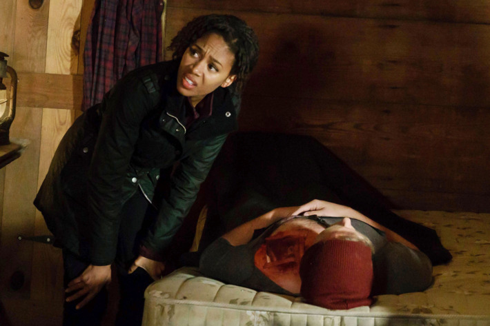 "SLEEPY HOLLOW: Nicole Beharie in the ""Into the Wild"" episode of SLEEPY HOLLOW airing Friday, March 11 (8:00-9:01 PM ET/PT) on FOX. ©2016 Fox Broadcasting Co. Cr: Tina Rowden/FOX"