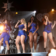 (L-R) Singers Camila Cabello, Dinah Jane, Normani Kordei, Lauren Jauregui and Ally Brooke Hernandez of Fifth Harmony.