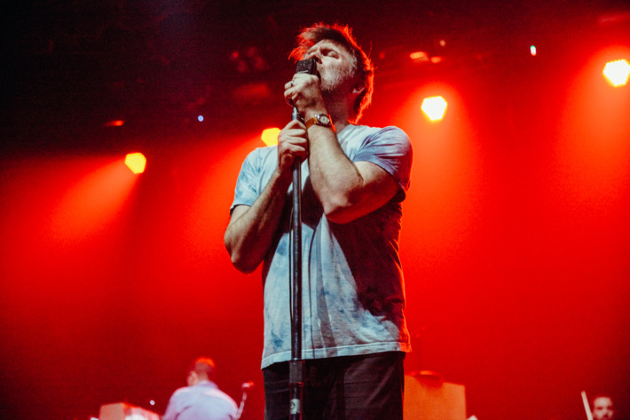 LCD Soundsystem perform for the first time in 5 years at Webster Hall in New York City on April 27th, 2016.