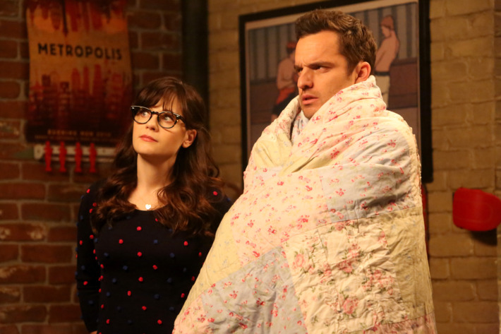 NEW GIRL: L-R: Zooey Deschanel and Jake Johnson in the
