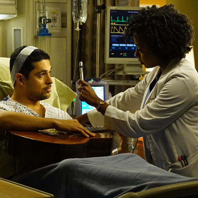 Wilmer Valderrama as Kyle, Jerrika Hinton as Stephanie.