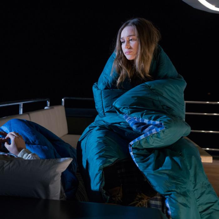 Alycia Pebnam-Carey as Alicia Clark, Frank Dillane as Nick Clark - Fear The Walking Dead _ Season 2, Episode 02 - Photo Credit: Richard Foreman, Jr/AMC