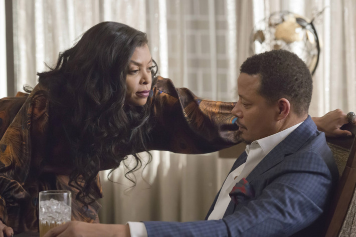 "EMPIRE: Pictured L-R: Taraji P. Henson and Terrence Howard in the ""More Than Kin"" episode of EMPIRE airing Wednesday, April 27 (9:00-10:00 PM ET/PT) on FOX. ©2016 Fox Broadcasting Co. CR: Chuck Hodes/FOX"
