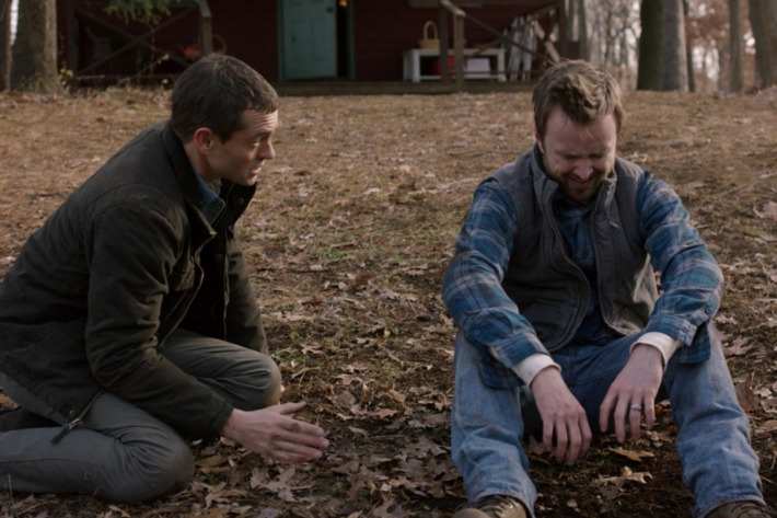 Hugh Dancy as Cal, Aaron Paul as Eddie.