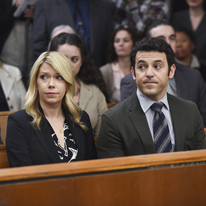 GRINDER: L-R: Mary Elizabeth Ellis and Fred Savage in the