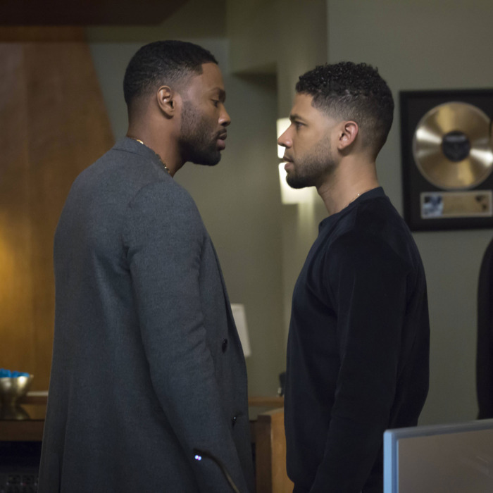 EMPIRE: Pictured L-R: Guest star Tobias Truvillion, Jussie Smollett and Terrence Howard in the