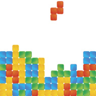 Tetris game a4 size illustration with text on white