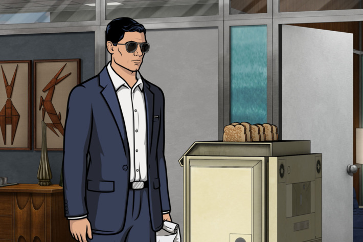 "ARCHER -- ""Liquid Lunch"" -- Episode 708 (Airs Thursday, May 19, 10:00pm e/p) Pictured: Sterling Archer (voice of H. Jon Benjamin). CR: FX"