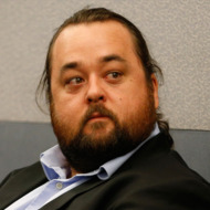 "Austin Lee Russell, better known as Chumlee from the TV series ""Pawn Stars,"" appears in court Monday, May 23, 2016, in Las Vegas."