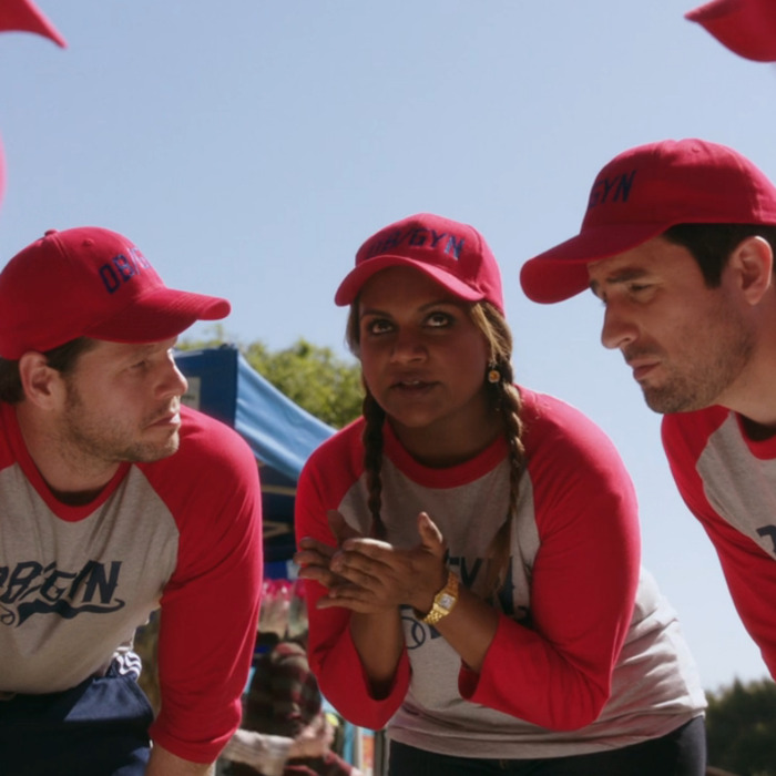 Mindy Kaling as Mindy, Ike Barinholtz as Morgan.