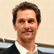 Matthew McConaughey speaks during the unveiling of the Lincoln Navigator concept car during the New York International Auto Show on March 23, 2016.