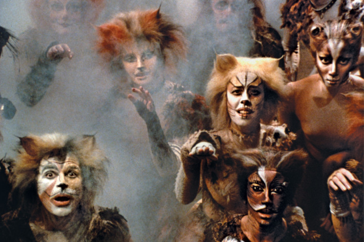 Cats (1982-2000 Broadway)Music by Andrew Lloyd Webber Lyrics by T.S. Eliot Directed by Trevor NunnShown: ensemble