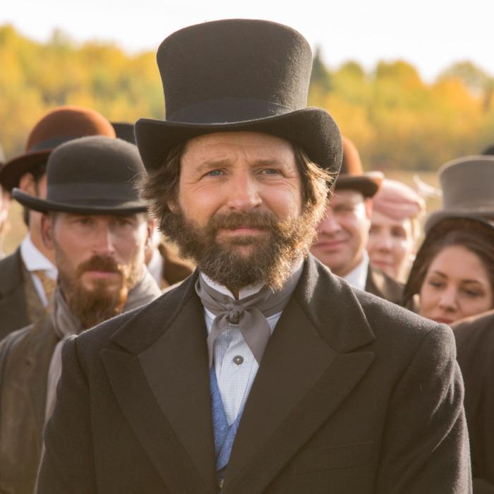 Tim Guinee as Collis Huntington - Hell on Wheels _ Season 5, Episode 14 - Photo Credit: Michelle Faye/AMC