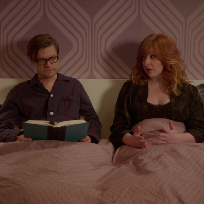 James Urbaniak as Arthur, Julie Klausner as Julie.