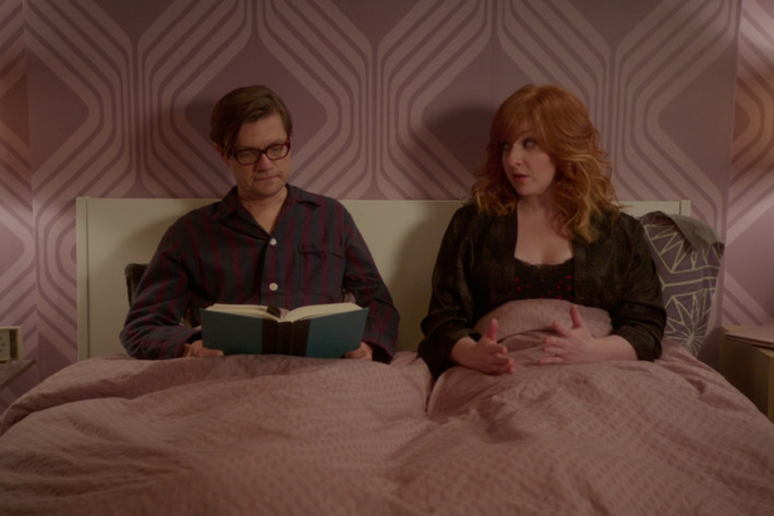 James Urbaniak as Arthur, Julie Klausner as Julie.