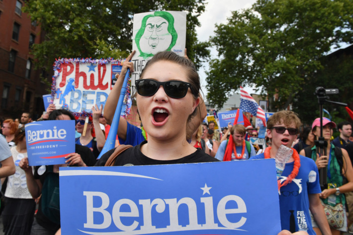 Protesters Demonstrate In Philadelphia During The Democratic National Convention