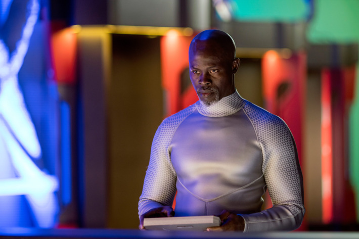 "WAYWARD PINES:  Djimon Hounsou in the ""Bedtime Story"" season finale episode of WAYWARD PINES airing Wednesday, July 27 (9:00-10:00 PM ET/PT) on FOX. ©2016 Fox Broadcasting Co.  Cr:  Ed Araquel/FOX"