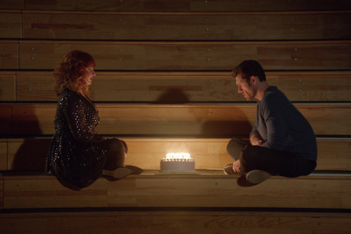 Julie Klausner as Julie, Billy Eichner as Billy.
