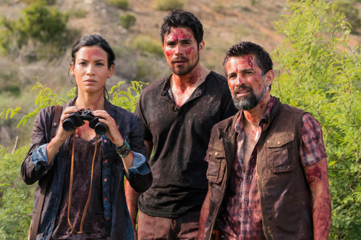 Danay Garcia as Luciana, Alfredo Herrera as Francisco Scout, Carlos Sequra as Scout - Fear The Walking Dead _ Season 2, Episode 8 - Photo Credit: Richard Foreman Jr /AMC