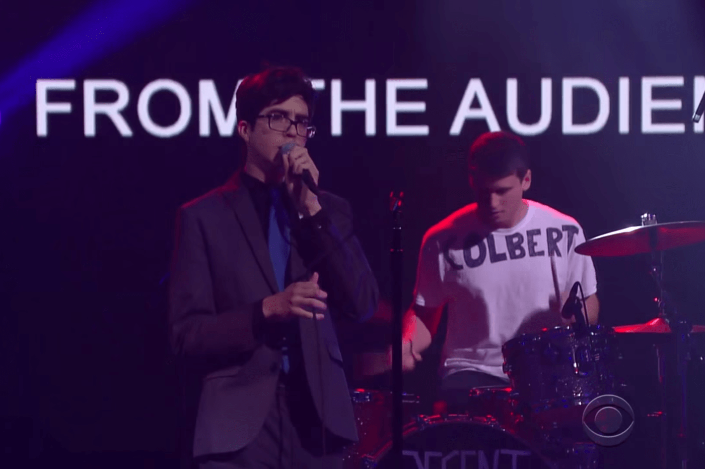 Car Seat Headrest Makes TV Debut Drummer Wears Colbert Shirt To Remember Where He Is