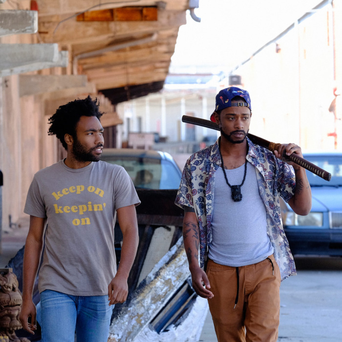 "ATLANTA -- ""The Streisand Effect"" -- Episode 104 (Airs Tuesday, September 20, 10:00 pm e/p) Pictured: (l-r) Donald Glover as Earnest Marks, Keith Standfield as Darius. CR: Guy D'Alema/FX"