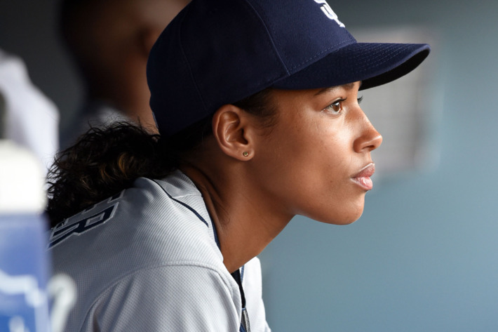 "PITCH: Kylie Bunbury in the all-new ""The Interim"" episode of PITCH airing Thursday, Sept. 29 (8:59-10:00 PM ET/PT) on FOX. Cr: Ray Mickshaw /  FOX. © 2016 FOX Broadcasting Co."