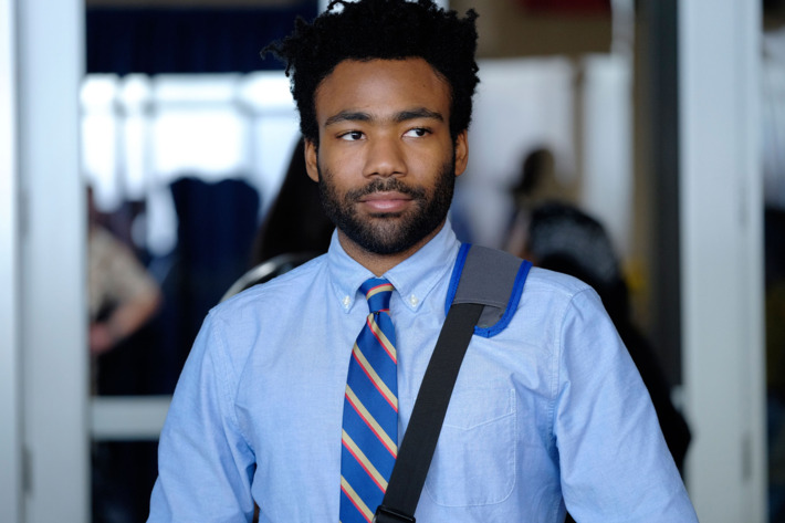"ATLANTA -- ""Nobody Beats The Biebs"" -- Episode 105 (Airs Tuesday, September 27, 10:00 pm e/p) Pictured: Donald Glover as Earnest Marks. CR: Guy D'Alema/FX"