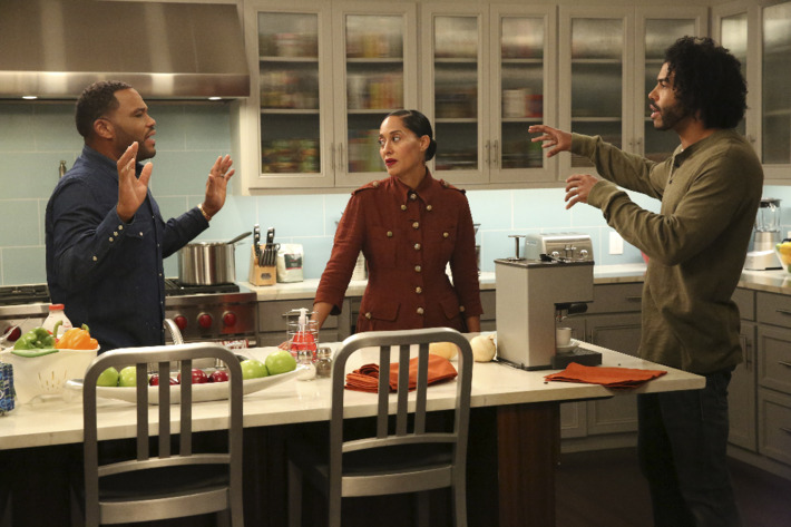 Anthony Anderson as Dre, Tracee Ellis Ross as Bow, Daveed Diggs as Johan.