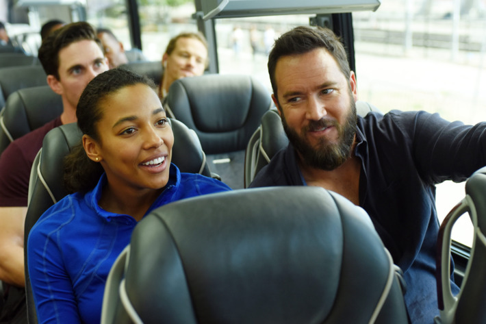 "PITCH: Kylie Bunbury and Mark-Paul Gosselaar in the all-new ""The Interim"