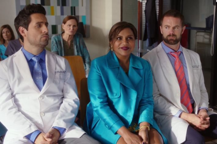 Ed Weeks as Jeremy, Mindy Kaling as Mindy, Garret Dillahunt as Jody.