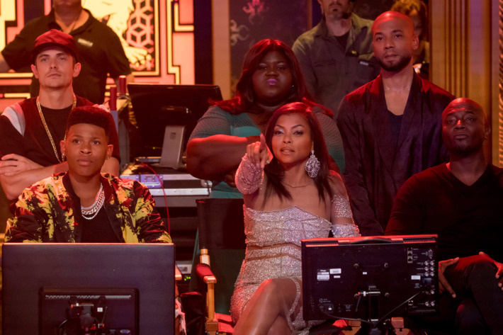 "EMPIRE: Pictured top L-R: Gabourey Sidibe and Jussie Smollet. Bottom L-R: Bryshere Gray, Taraji P. Henson and guest star Taye Diggs in the ""Cupid Kills"" episode of EMPIRE airing Wednesday, Oct. 12 (9:00-10:00 PM ET/PT) on FOX. ©2016 Fox Broadcasting Co. CR: Chuck Hodes/FOX"
