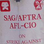 An estimated 75–members of the SAG/Aftra boycotted at the front gate of Procter and Gamble in Oxnard