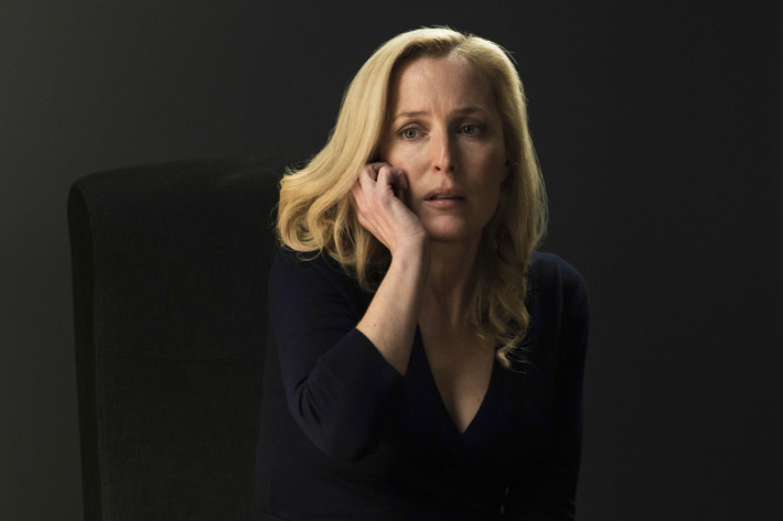 Gillian Anderson as Stella Gibson.