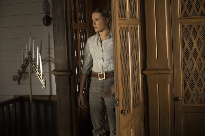 Evan Rachel Wood as Dolores.