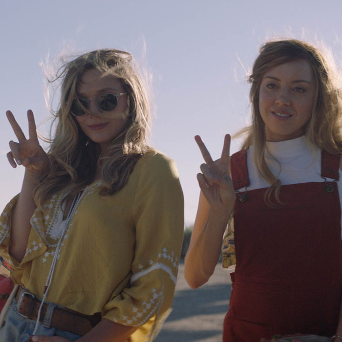 Elizabeth Olsen and Aubrey Plaza appear in <i>Ingrid Goes West</i> by Matt Spicer, an official selection of the U.S. Dramatic Competition at the 2017 Sundance Film Festival. © 2016 Sundance Institute.