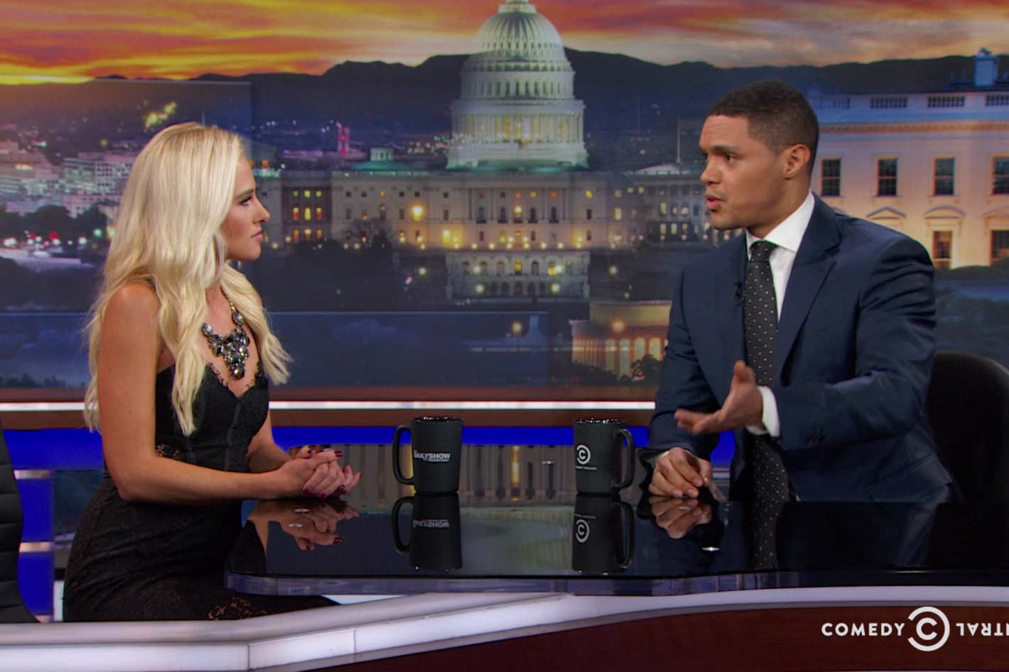 Trevor noah thoughtfully confronting tomi lahren on racism on the daily show might be his best work ever