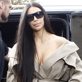 Kim Kardashian and her bodyguard Pascal Duvier in Paris