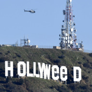 US-CRIME-HOLLYWOOD-SIGN