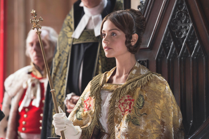 From ITVVICTORIA Episode OnePictured: JENNA COLEMAN as VictoriaThis photograph is (C) ITV Plc and can only be reproduced for editorial purposes directly in connection with the programme or event mentioned above. Once made available by ITV plc Picture Desk, this photograph can be reproduced once only up until the transmission [TX] date and no reproduction fee will be charged. Any subsequent usage may incur a fee. This photograph must not be manipulated [excluding basic cropping] in a manner which alters the visual appearance of the person photographed deemed detrimental or inappropriate by ITV plc Picture Desk.  This photograph must not be syndicated to any other company, publication or website, or permanently archived, without the express written permission of ITV Plc Picture Desk. Full Terms and conditions are available on the website www.itvpictures.comFor further information please contact:Patrick.smith@itv.com 0207 1573044