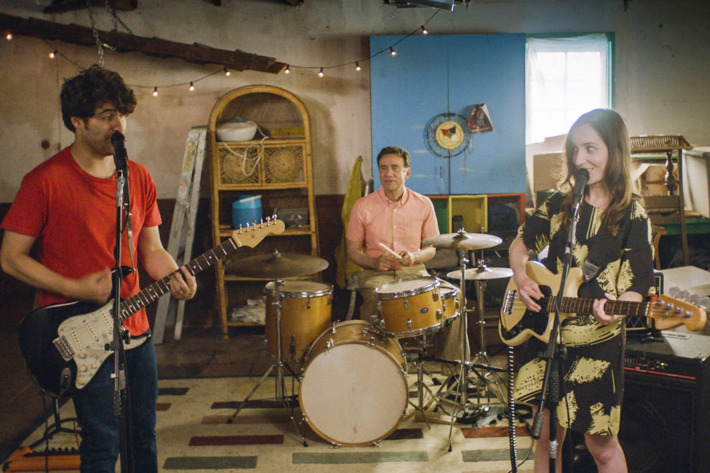 Adam Pally, Fred Armisen and Zoe Lister-Jones appear in <i>Band Aid</i> by Zoe Lister-Jones, an official selection of the U.S. Dramatic Competition at the 2017 Sundance Film Festival. Courtesy of Sundance Institute.