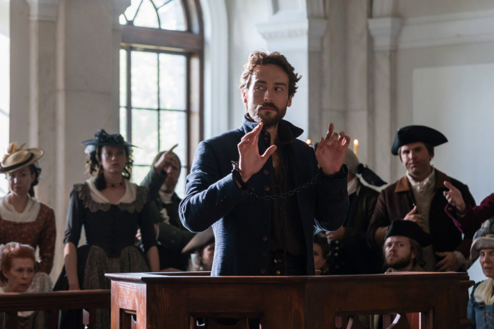 "SLEEPY HOLLOW:  Tom Mison in the ""People v. Ichabod Crane"" episode of SLEEPY HOLLOW airing Friday, Jan. 27 (9:00-10:00 PM ET/PT) on FOX. ©2017 Fox Broadcasting Co. CR: Tina Rowden/FOX"