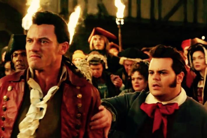 Luke Evans As Gaston And Josh Gad LeFou In Beauty The Beast Photo Image Courtesy Of Disney