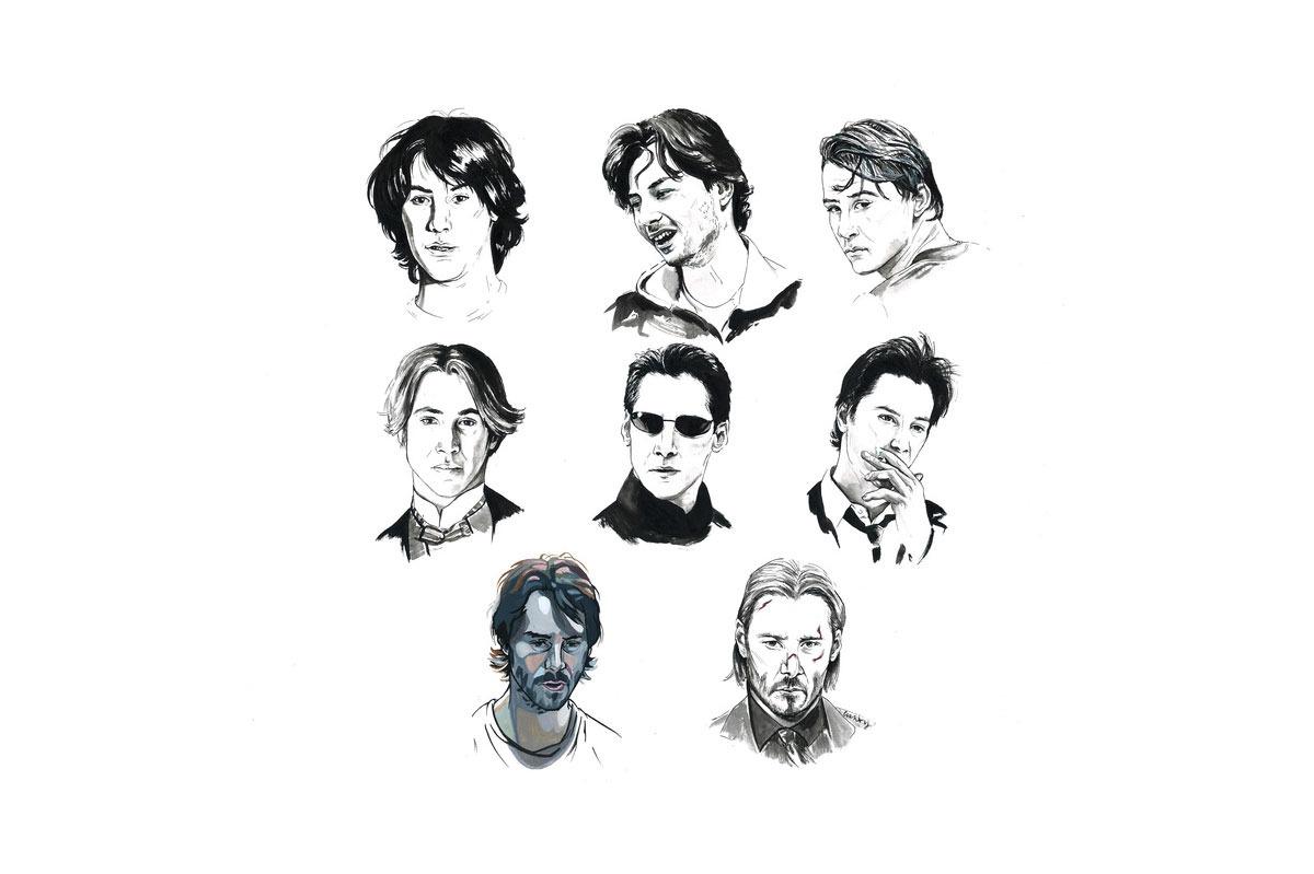 Brianna Ashby Keanu Reeves Art Print