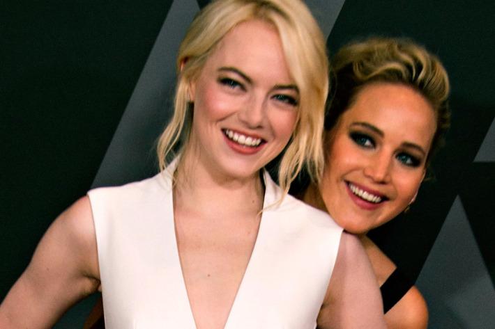 Emma Stone and Jennifer Lawrence.