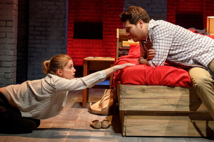 Anna Chlumsky and Adam Pally in Cardinal.
