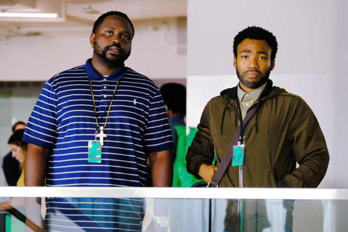 Brian Tyree Henry and Donald Glover in Atlanta.