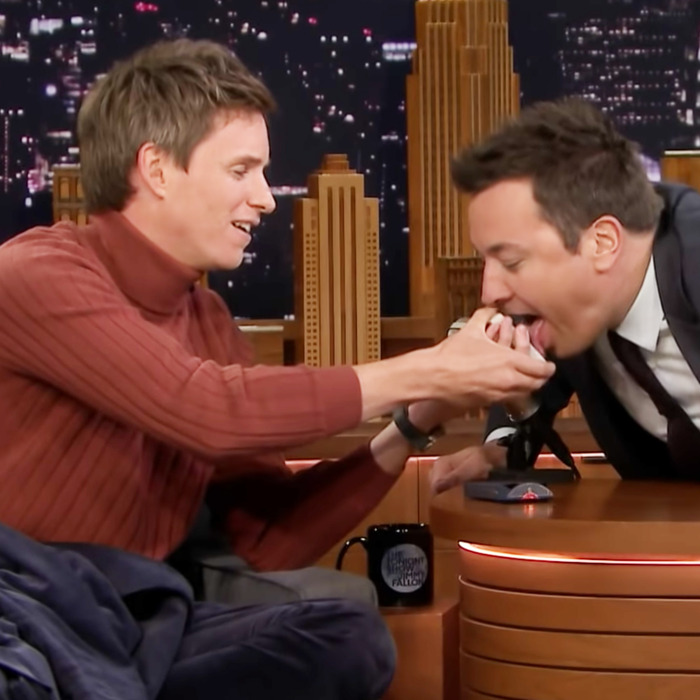 Eddie Redmayne and Jimmy Fallon.