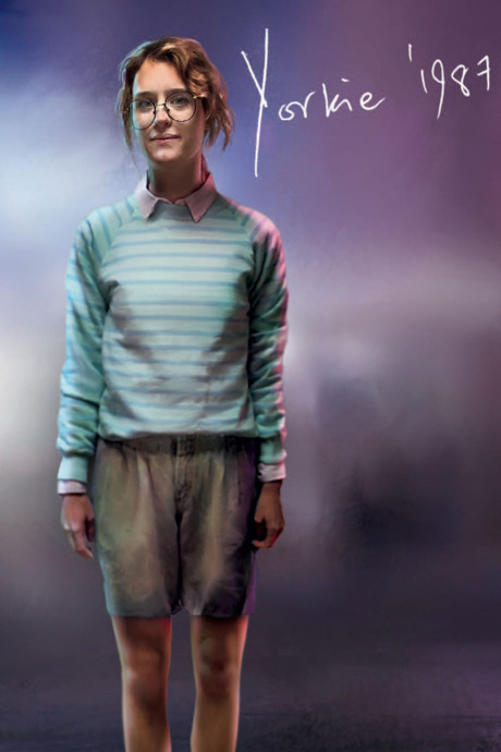 bea3bb0d9 The costume concept art for Kelly and Yorkie, designed by Susie Coulthard.  Photo: Painting Practice/House of Tomorrow.